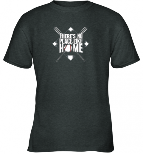 tzq0 there39 s no place like home baseball tshirt mom dad youth youth t shirt 26 front dark heather