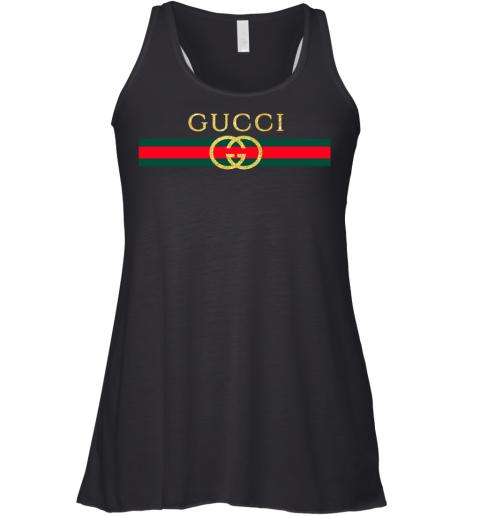Gucci Logo Glitter Vintage Inspired Trend Womens Racerback Tank Top