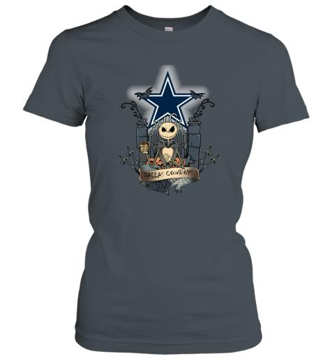 Dallas Cowboys Jack Skellington This Is Halloween NFL Women's T-Shirt