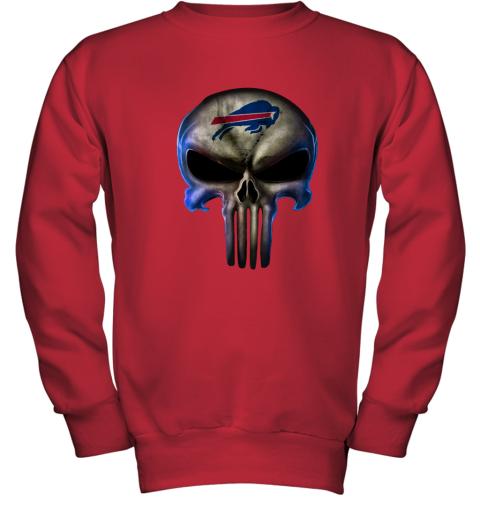 Buffalo Bills The Punisher Mashup Football Youth Sweatshirt