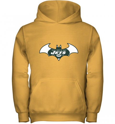9ugy we are the new york jets batman nfl mashup youth hoodie 43 front gold