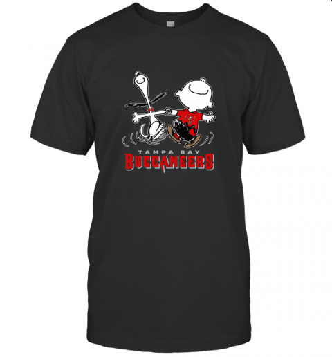 Snoopy And Charlie Brown Happy Tampa Bay Buccaneer T-Shirt