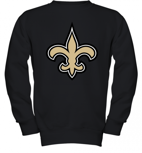 o7io orleans saints nfl pro line gray victory youth sweatshirt 47 front black