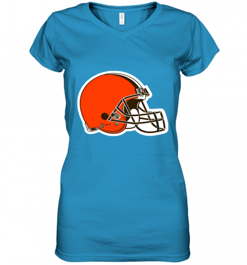 tvjp cleveland browns nfl pro line by fanatics branded brown victory women v neck t shirt 39 front sapphire