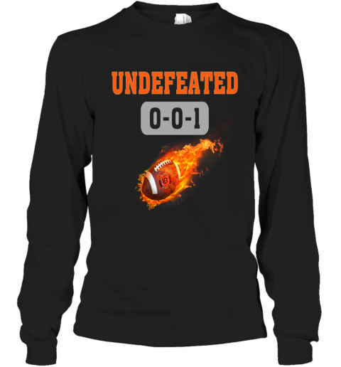 NFL CINCINNATI BENGALS LOGO Undefeated Long Sleeve T-Shirt