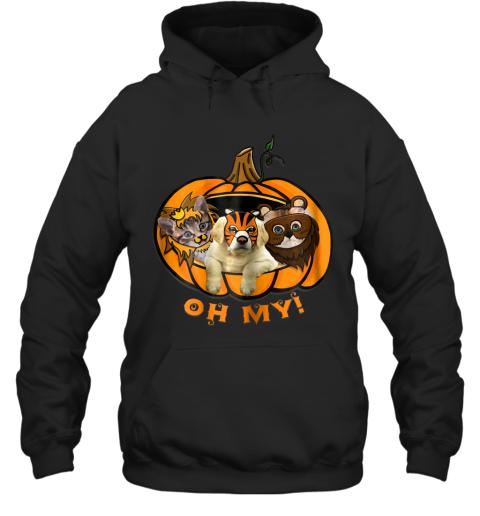 Womens Pumpkin Cat And Dog Halloween Hoodie