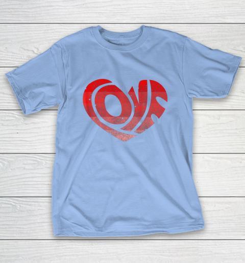 Retro Valentine Heart Shirt Great Valentines Day Gift T-Shirt 10