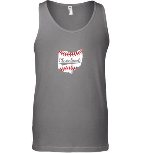 ujlb cleveland ohio 216 baseball unisex tank 17 front graphite heather