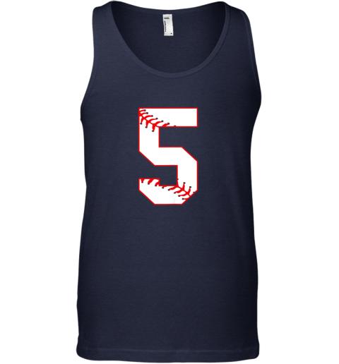 65vn cute fifth birthday party 5th baseball shirt born 2014 unisex tank 17 front navy