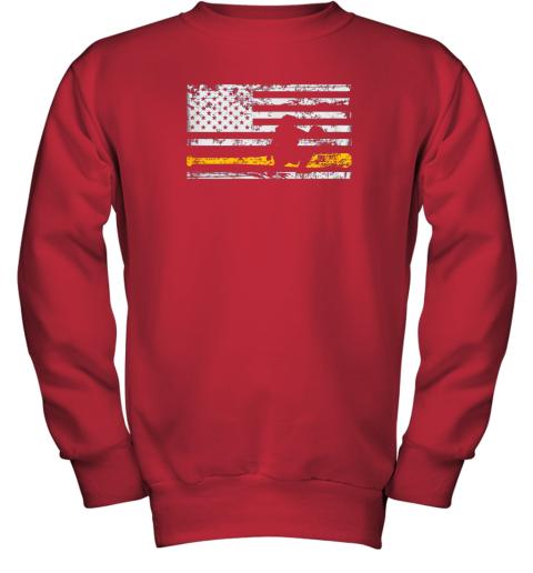 d8bq softball catcher shirts baseball catcher american flag youth sweatshirt 47 front red