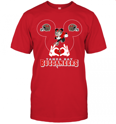 1zmc i love the buccaneers mickey mouse tampa bay buccaneers s jersey t shirt 60 front red