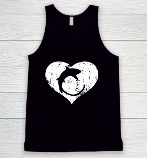 I Love Sharks Gifts Thresher Shark Heart Valentine Gift Tank Top