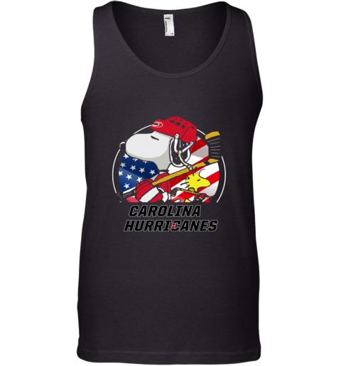 Carolina Hurricanes  Snoopy And Woodstock NHL Tank Top