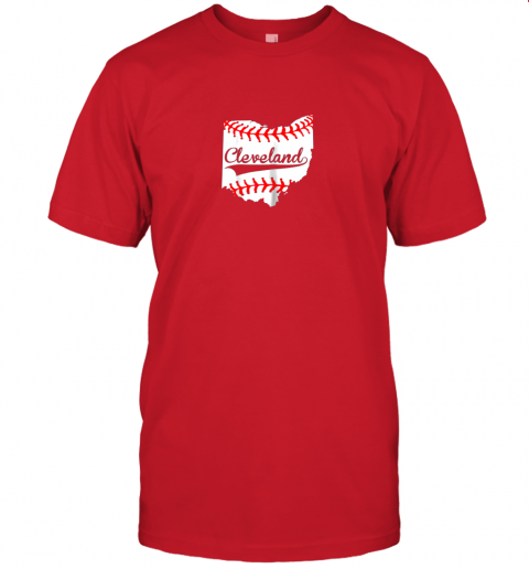 slr5 cleveland ohio 216 baseball jersey t shirt 60 front red