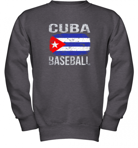 lmr4 cuba baseball cuban flag youth sweatshirt 47 front dark heather