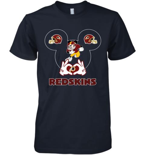hkdl i love the redskins mickey mouse washington redskins premium guys tee 5 front midnight navy