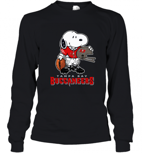Snoopy A Strong And Proud Tampa Bay Buccaneers Player NFL Youth Long Sleeve
