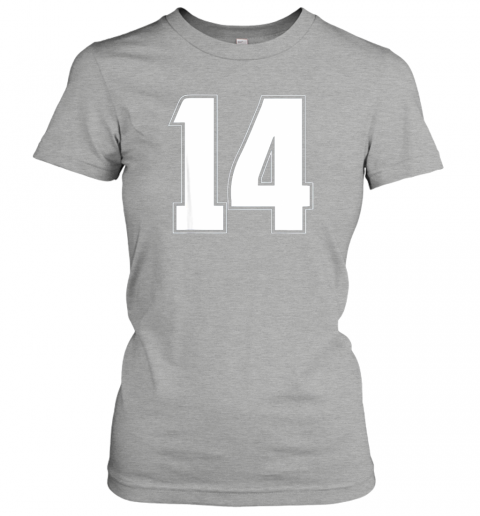 zkci halloween group costume 14 sport jersey number 14 14th bday ladies t shirt 20 front ash