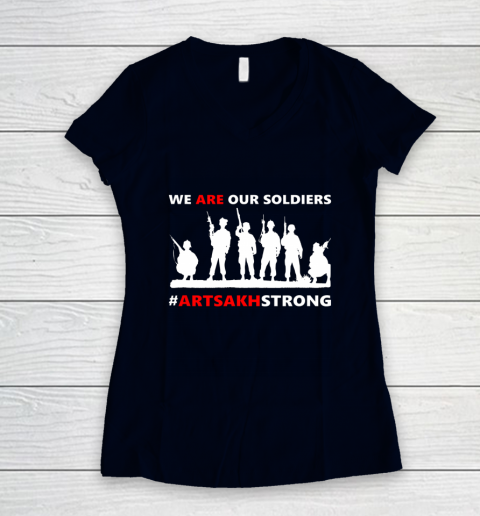 We Are Our Soldiers Women's V-Neck T-Shirt 2