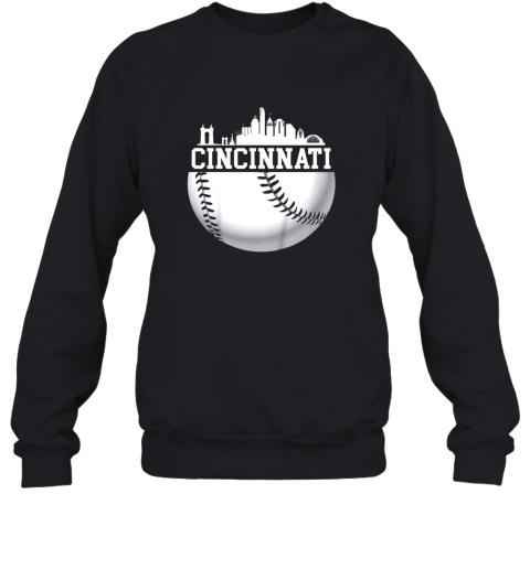 Vintage Downtown Cincinnati Shirt Baseball Retro Ohio State Sweatshirt