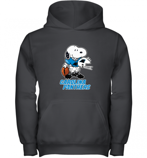 Snoopy A Strong And Proud Carolina Panthers NFL Youth Hoodie
