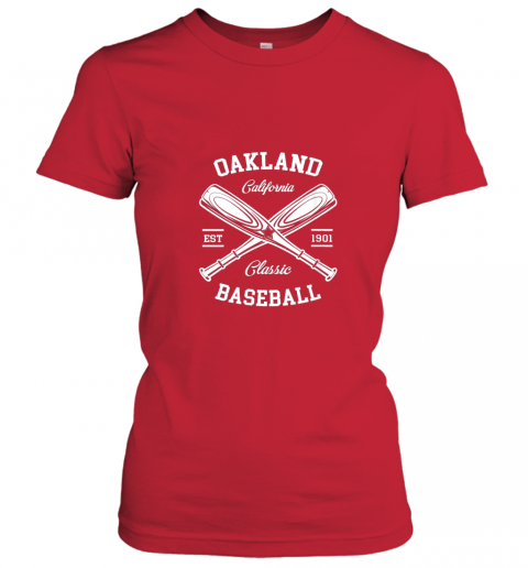 axv4 oakland baseball classic vintage california retro fans gift ladies t shirt 20 front red