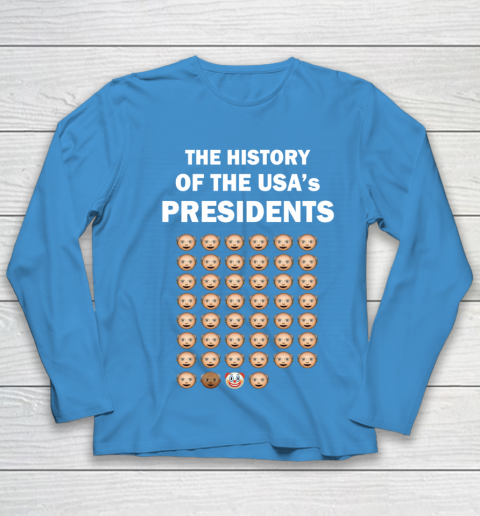 The History of The USA Presidents Emoji Style Anti Trump Updated with Biden Youth Long Sleeve 5