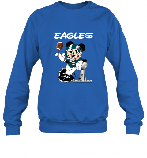 sq3t mickey eagles taking the super bowl trophy football sweatshirt 35 front royal