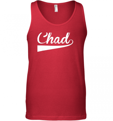 szqq chad country name baseball softball styled unisex tank 17 front red