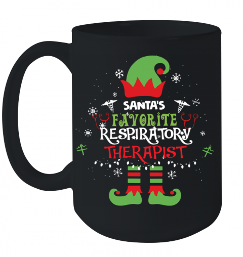 ELF Santa's Favorite Respiratory Therapist Ceramic Mug 15oz