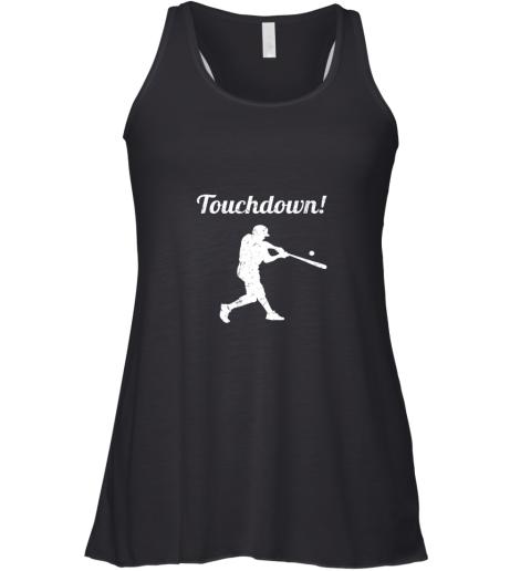 Touchdown Funny Baseball Racerback Tank