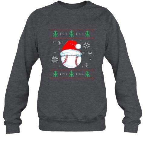 wxru ugly christmas baseball shirt boys kids ball santa pajama sweatshirt 35 front dark heather