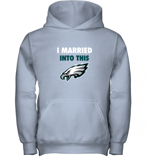 lfmx i married into this philadelphia eagles football nfl youth hoodie 43 front light pink