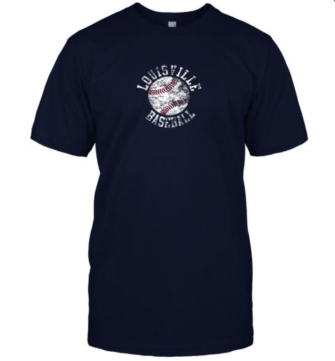 qo0u vintage louisville baseball jersey t shirt 60 front navy