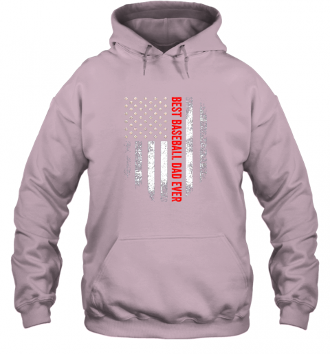 2skq vintage usa best baseball dad ever american flag daddy gift hoodie 23 front light pink