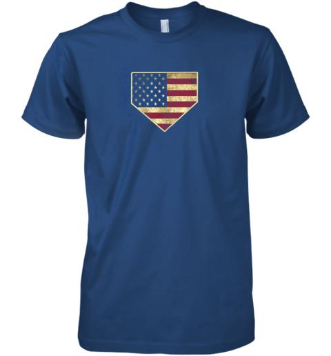 uj4v vintage american flag baseball shirt home plate art gift premium guys tee 5 front royal