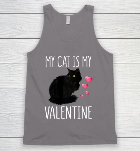 Black Cat Shirt For Valentine s Day My Cat Is My Valentine Tank Top 6