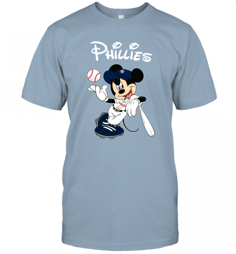 vdxf baseball mickey team philadelphia phillies jersey t shirt 60 front light blue