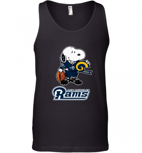 Snoopy A Strong And Proud Los Angeles Rams NFL Tank Top