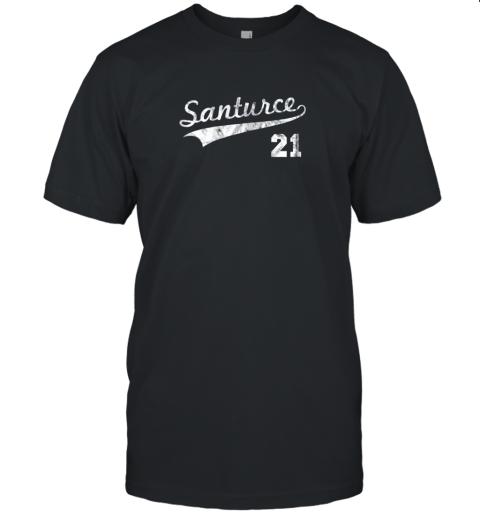 Vintage Distressed Santurce 21 Puerto Rico Baseball Unisex Jersey Tee