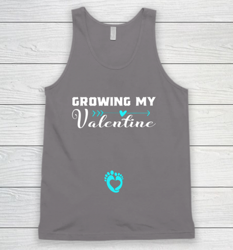 Cute Growing my Valentine Gift for Women pregnancy Tank Top 6