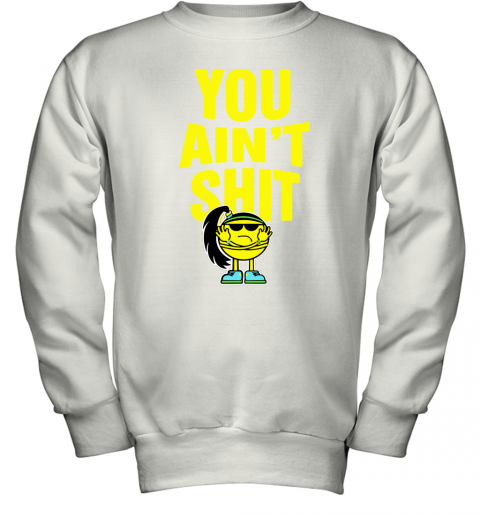 my6r bayley you aint shit its bayley bitch wwe shirts youth sweatshirt 47 front white