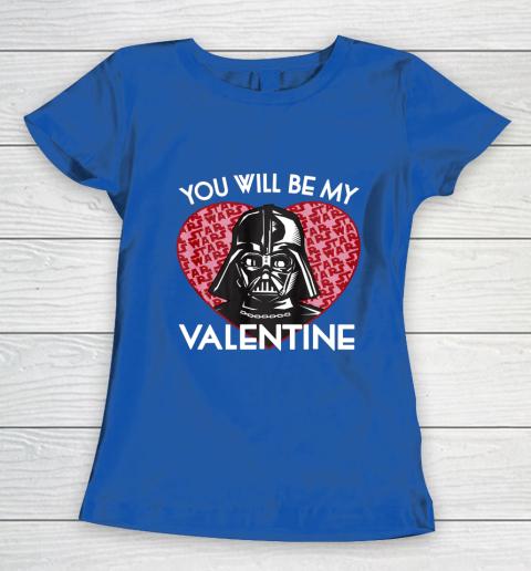 Star Wars You Will Be My Valentine Darth Vader Women's T-Shirt 8