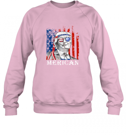 ijmn merica donald trump 4th of july american flag shirts sweatshirt 35 front light pink