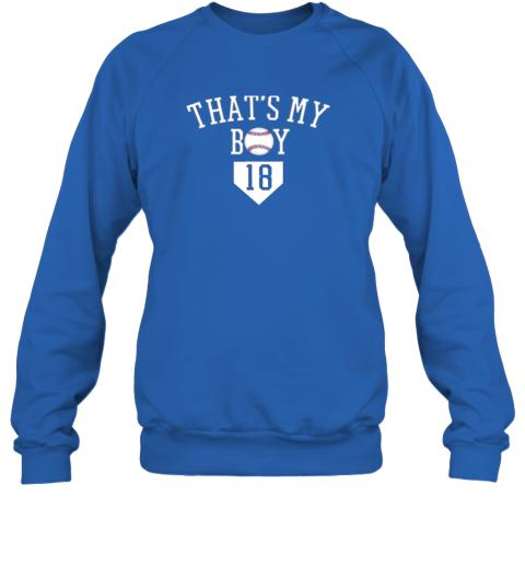 t6y9 that39 s my boy 18 baseball number 18 jersey baseball mom dad sweatshirt 35 front royal