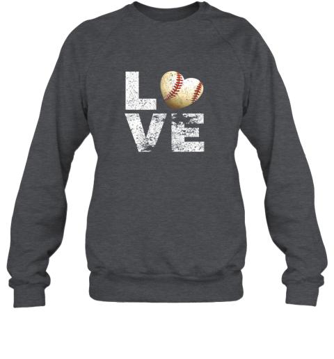 jean i love baseball funny gift for baseball fans lovers sweatshirt 35 front dark heather