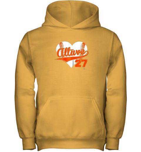 b57l jose altuve baseball heart shirtapparel youth hoodie 43 front gold