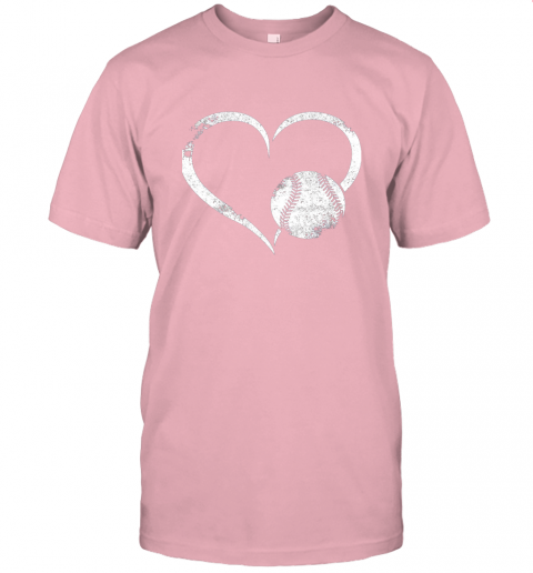 npdr i love baseballl funny baseball lover heartbeat jersey t shirt 60 front pink