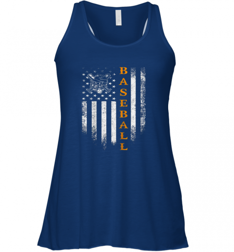 ltym vintage usa baseball distressed american flag patriotic gift flowy tank 32 front true royal