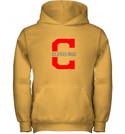 mdxf cleveland hometown indian tribe vintage for mlb fans youth hoodie 43 front gold
